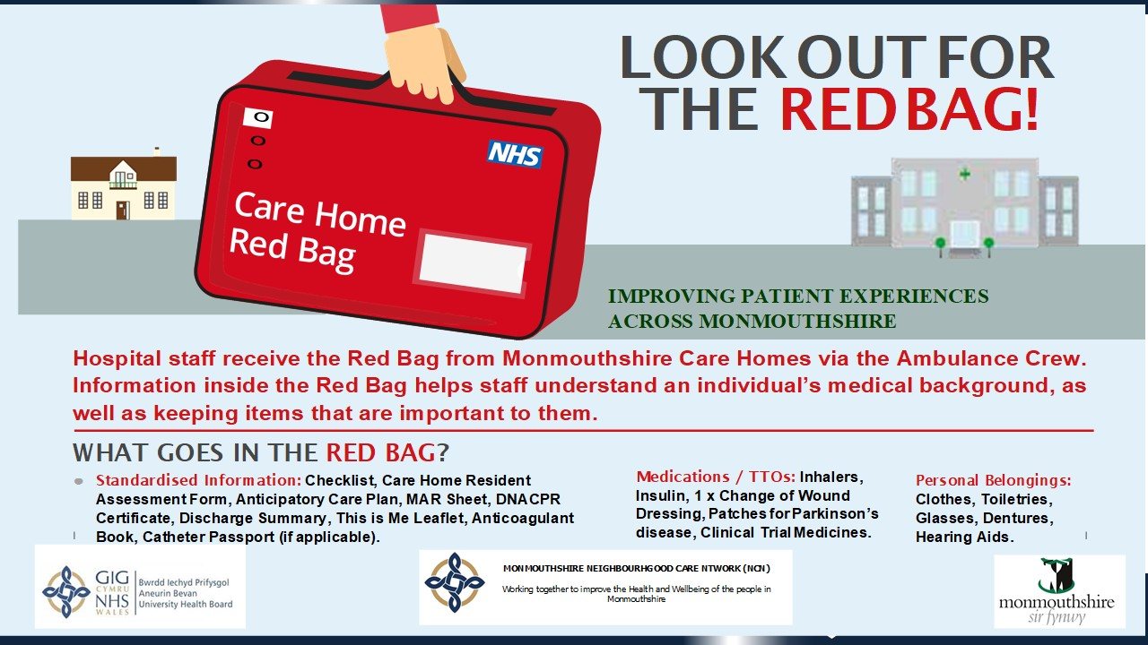 Look out for the red bag